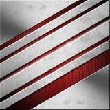 Rosso e fondo di affari del metallo - diagonali illustrazione vettoriale