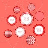 Rosso e infograp geometrico dei cerchi modellato bianco Immagine Stock
