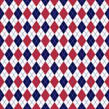 Rosso e marina Argyle Seamless Pattern royalty illustrazione gratis