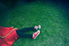 Rosso e verde Fotografia Stock