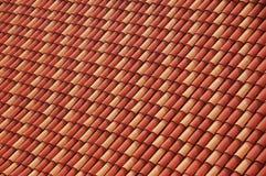 Rosso ed arancio copre di tegoli la priorità bassa Fotografia Stock Libera da Diritti