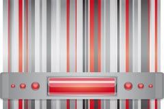 Rosso - fondo grigio con la disposizione. Fotografie Stock Libere da Diritti