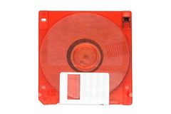 Rosso 3 fondo a 5 pollici di bianco del dischetto Immagini Stock