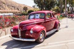 Rosso Ford Coupe 1940 Immagini Stock