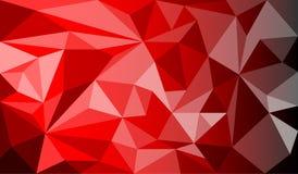 Rosso geometrico astratto del fondo Illustrazione Vettoriale