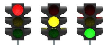 Rosso, giallo, verde Fotografie Stock Libere da Diritti