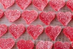 Rosso gommoso Candy dei cuori di giorno di biglietti di S. Valentino Fotografia Stock Libera da Diritti