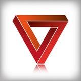 Rosso impossibile del triangolo Fotografia Stock