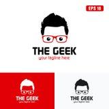 Rosso l'affare Logo Idea di progettazione di vettore di logo/icona del geek Fotografia Stock Libera da Diritti