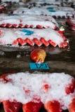 Rosso-legato fotografie stock libere da diritti