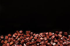 Rosso levante, red natural marble on black background. Rosso levante, red marble on black background Stock Photos