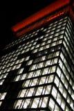 Rosso Logo Night Architecture della torre di Lit di Osram Fotografia Stock Libera da Diritti