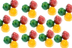 Rosso peperone, giallo, verde Fotografia Stock Libera da Diritti