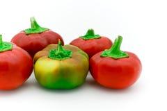 rosso piccoli peperoni dolci italiani gialli Immagini Stock Libere da Diritti