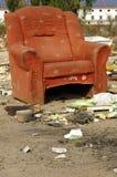 Rosso ricoperto della sedia Immagini Stock Libere da Diritti