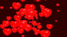 Rosso romantico di simbolo di amore dei cuori royalty illustrazione gratis