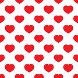 Rosso senza cuciture del cuore Immagini Stock Libere da Diritti