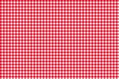 Rosso senza cuciture del modello della tovaglia Fotografia Stock Libera da Diritti