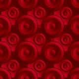 Rosso senza fine del quadro televisivo Immagine Stock Libera da Diritti
