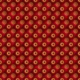 Rosso senza fine dell'oro del quadro televisivo Immagini Stock