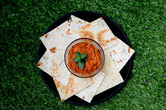 Rosso sparso con la tortiglia Fotografie Stock Libere da Diritti