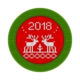 rosso tricottato della struttura di 2018 cervi Immagine Stock Libera da Diritti