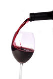 Rosso-vino di versamento Fotografie Stock Libere da Diritti