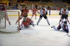 rossoblu milano хоккея стоковое изображение