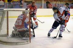 rossoblu milano хоккея стоковая фотография