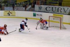 rossoblu milano хоккея стоковые фотографии rf