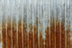 Rost galvanisiertes Eisen Stockfoto