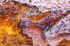 Rost korrosion, textur för järnmetalloxid fotografering för bildbyråer