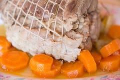 Rost nötkött med morötter Royaltyfria Foton