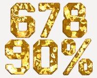 Rost nummeriert Eisen numerische Buchstaben Lizenzfreies Stockbild
