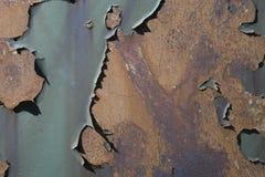 Rost- och skalningsmålarfärgbakgrund Fotografering för Bildbyråer
