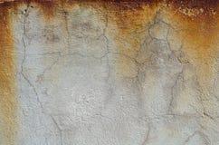 Rost på den gråa betongväggen textur Royaltyfria Bilder