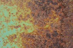 Rost på metallyttersida Royaltyfri Bild