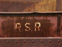 Rost på stål Arkivfoto