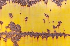 Rost på stålplattan arkivbilder