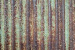 Rost på zinkväggtexturen Arkivbild