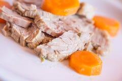 Rost-Rindfleisch mit Karotten Lizenzfreies Stockbild