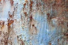 Rost umfaßter verwitterter Eisenstahlmetallhintergrund stockbilder