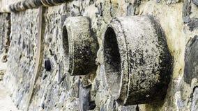 Rost und Korrosion in der Rohr- und Metallhaut Korrosion des Metalls Rost von Metallen Stockfoto