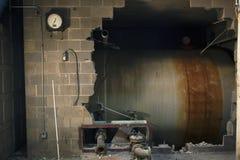 Rost und Zement Stockbild