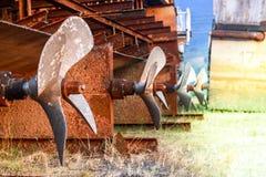 Rost von der alten Turbine stockfotos