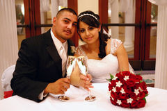 rosta bröllop för parlatino Arkivfoton