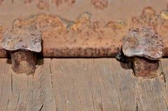 Rosta metall, skada av rost- och korrosionsbakgrund Arkivfoton