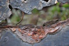 Rosta metall, skada av rost- och korrosionsbakgrund Royaltyfri Bild