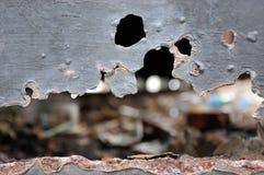 Rosta metall, skada av rost- och korrosionsbakgrund Royaltyfri Foto