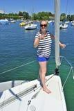 Rosta på en yacht Royaltyfria Foton